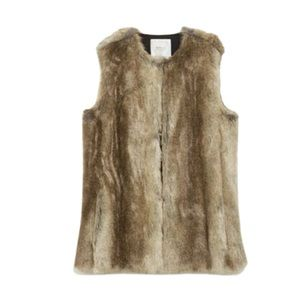 Zara Brown Faux Fur Vest